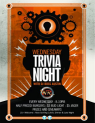 Trivia Night - Every Wednesday Night