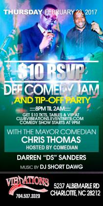 $10 RSVP DEF COMEDY JAM AND TIP-OFF PARTY