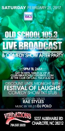 105.3 LIVE BROADCAST PARTY & COMEDY SHOW AFTER PARTY