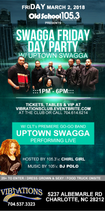 SWAGGA FRIDAY DAY PARTY W/ THE UPTOWN SWAGGA BAND