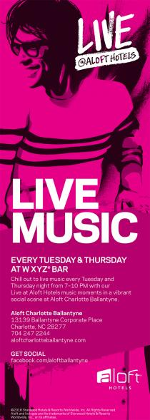 LIVE MUSIC EVERY TUESDAY & THURSDAY AT WXYZ Bar.