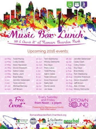 Music Box Lunch Series May thru August