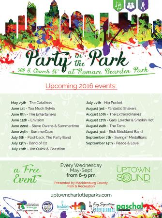 Party in the Park Every Wednesday May-Sept