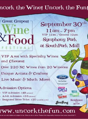 Great Grapes! Wine & Food Festival 9/30