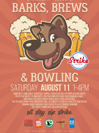 Barks, Brews, and Bowling 8/11 StrikeCity